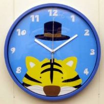 Childrens Bedroom Tiger Wall Clock